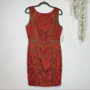 NWT JESSICA SIMPSON sleeveless sheath dress lace